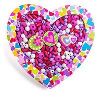 Woody Perlen zum Auffädeln - Herz - Perlen