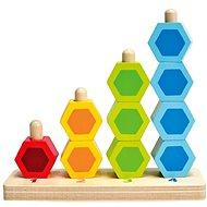 Hape Steckspiel mit bunten sechseckigen Formen - Holzspielzeug