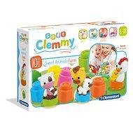 Clementoni Clemmy Baby Nutztiere - Spielzeug für die Kleinsten