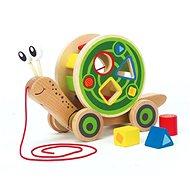 Hape Schnecke zum Nachziehen mit geometrischen Formen zum Einlegen - Holzspielzeug