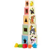 Woody Stapelturm mit 5 Würfeln Tiere - Bausatz