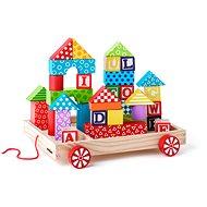 Woody Wagen mit Bauklötzen / Stempel-ABC - Bausatz