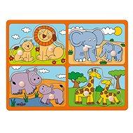Woody Puzzle für die Kleinen mit Griffen - Tiere Afrikas - Puzzle