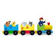 Woody Zug mit Tieren - Eisenbahn