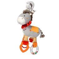 Nuk Happy Farm Esel mit Clip - Kinderwagenspielzeug
