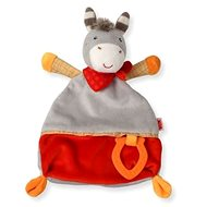 Nuk Happy Farm Decke Haustier + Baby-Beissring Esel - Spielzeug für die Kleinsten