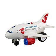 CSA Flugzeug mit Meldung von Kapitän und Stewardess - Flugzeug