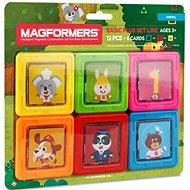 Magnetischer Baukasten Magformers Tierkarten