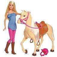 Barbie Pferd mit Puppe
