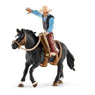 Figuren Schleich Farm World 41416 - Wildpferdreiten mit Sattel und Cowboy