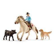 Figur Schleich 42419 Westernreiterin mit Tieren