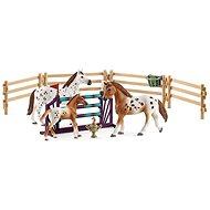 Schleich 42433 Set Appalos Pferde und Trainingszubehör - Figur