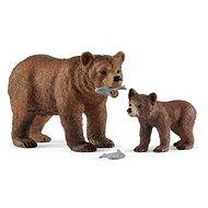 Figur Schleich 42473 Grizzlybär mit Baby