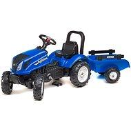 Traktor mit Anhänger - blau - Laufrad/Bobby Car