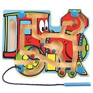 Hape Lokomotive - Labyrinth mit Magnetstab und Perlen - Didaktisches Spielzeug