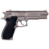 Polizeipistole silber matt metallic 8 Schüsse - Kindergewehr