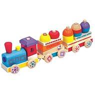 Bunter hölzerner Zug Maxi - Didaktisches Spielzeug