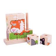 Bigjigs Baby Catching Cubes Tiere - Holzwürfel