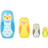 Small Foot Matryoshka-Eulen-Familie - Holzspielzeug
