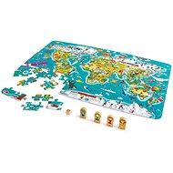 Hape Weltkarte 2in1 Puzzle - Puzzle