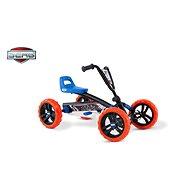 Berg Buzzy Nitro Go-Kart - schwarz, orange und blau - Pedal Quad