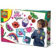SES Kreativ-Set - Fashion Glitter Patches - Glitzer-Aufnäher DIY - Nähen für Kinder