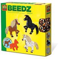 SES BEEDZ Bügelperlen - Pferde mit Mähne und Schweif - Perlen zum Aufbügeln