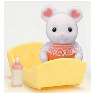 Sylvanian Families Baby Marshmallow Maus mit Zubehör - Spielset