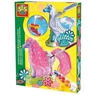 SES Kreativ-Set - Gießen und Anmalen - Pferd mit Glitter - Malen für Kinder