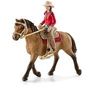 Schleich 42112 Westernová jezdkyně na koni - Figuren