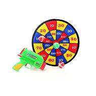 Zielscheibe mit Pistole - Spielzeugwaffe