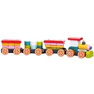 Cubika 13319 Zug mit drei Waggons - Holzspielzeug