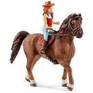 Schleich 42514 Rothaarige Hannah und Pferd Cayenne - Figur
