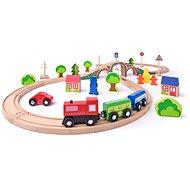 Woody Achter mit Zug, 40 Teile - Modelleisenbahn