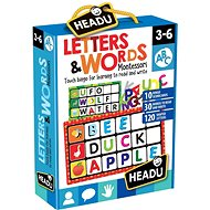 Gesellschaftsspiel Montessori - Bingo - Buchstaben und Wörter - Společenská hra