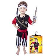 Rappa Piratenkostüm mit Stirnband Größe S - Kinderkostüm