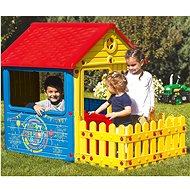 DOLU Dětský zahradní domeček s plotem - Kinderspielhaus