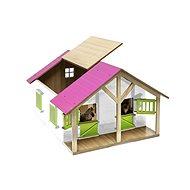 Mikro Trading Kids Globe Pferdestall Modell - Rosa - Spieleisenbahn-Zubehör
