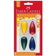 Faber-Castell Plastikkreiden in 4 Farben - Bürobedarf-Set