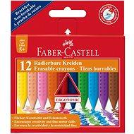 Faber-Castell Radierbare Kreide, 12 Farben - Bundstifte