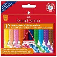 Faber-Castell Buntstifte Radierbare Kreiden Jumbo, 12 Farbe - Bundstifte
