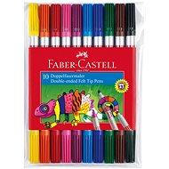 Faber-Castell Oboustranné Popisovače, 10 Barev - Bürobedarf-Set