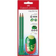 Faber-Castell Bleistift Grip 2001 2 Stück + Anspitzer Kinder - Bürobedarf-Set