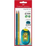 Bürobedarf Set Faber-Castell Graphit Bleistift Grip 2001 2er + Bleistiftspitzer Teenager - Bürobedarf-Set
