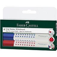 Faber-Castell Grip Marker Whiteboard, 4 ks - Marker