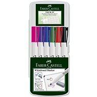 Faber-Castell Slim Whiteboard Stifte, 6-teilig - Marker