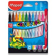 Maped Color Peps Jungle, 12 Farben - Filzstifte