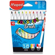 Bürobedarf-Set Maped Color Peps Brush, 10 Farben - Filzstifte