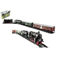 Eisenbahn + 3 Wagons mit Schienen, 24 Stück - Modelleisenbahn