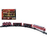 Zug-Set Lok mit 3 Güterwagen + Schienen 16 Stück - Modelleisenbahn